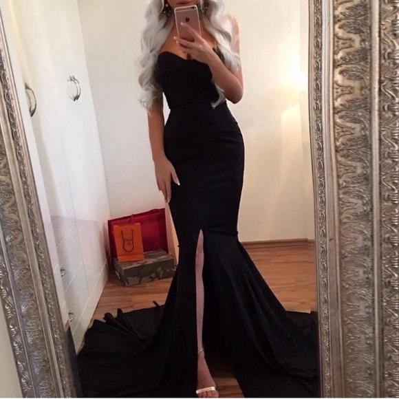 Dresses   Black Sweetheart Strapless Mermaid Gown   Poshmark